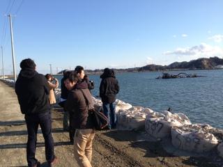 東松島市の沿岸部
