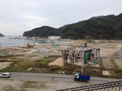 女川港の風景