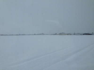 秋田 雪と吹雪